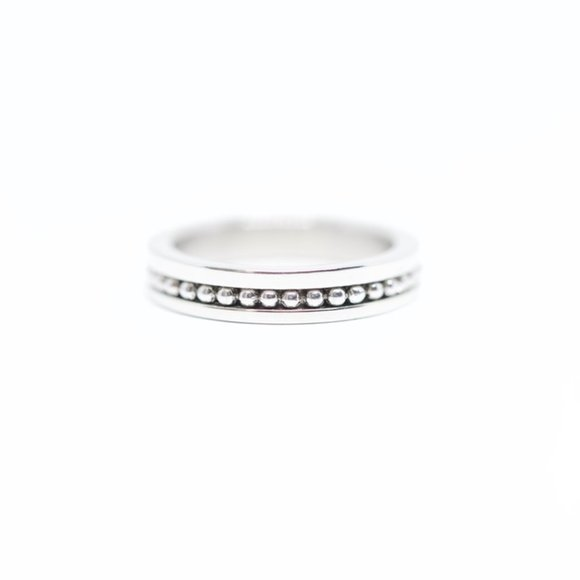 Jenna Jameson Jewelry - Stainless Steel Channel Designed Wedding Band